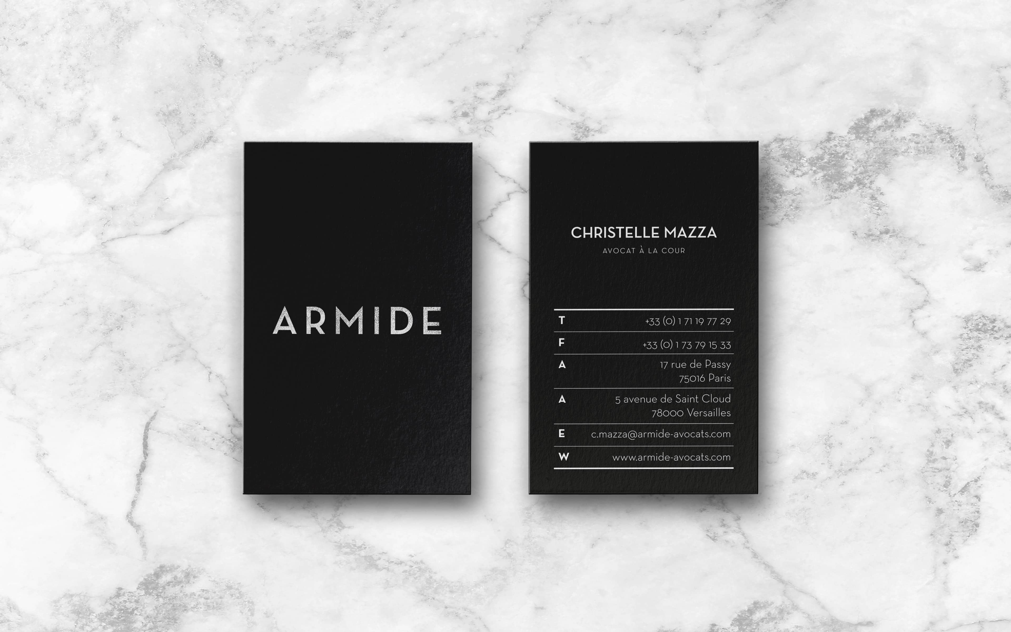 Armide Avocats. Name. Design Agency.